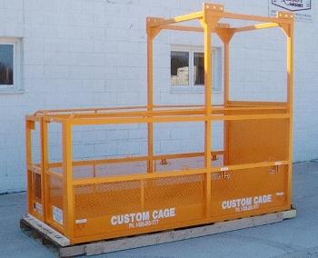 Cantilever Work Platform 5' work deck 900 lbs. w.l.l. Counter-lever Manbasket
