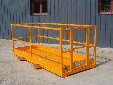 forklift work platform, manbasket, forklift cage, telehandler cage