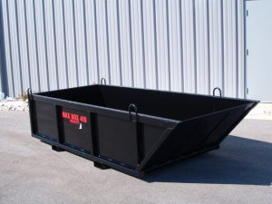 MAX BOX 410 MANUAL DUMP BOX / SKIP PAN WITH A 4,000 LBS. CAPACITY FOR THOSE LARGER JOBS