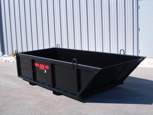 MAX BOX 410 MANUAL DUMP BOX / SKIP PAN WITH A 4,000 LBS. CAPACITY FOR THOSE LARGER JOBS