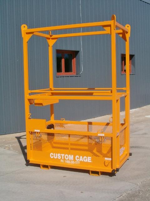 CRANE SUSPENDED PERSONNEL WORK PLATFORM MANBASET LIFTING CAGE