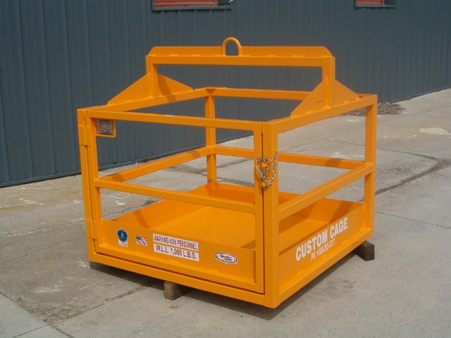 CUSTOM MATERIAL LIFTING CAGE, CRANE SUSPENDED MATERIAL CAGE