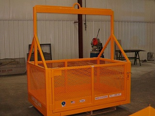 CUSTOM CAGE MATERAL BASKET, CRANE SUSPENDED LIFTING CAGE, WORK PLATFORM, MATERIAL LIFT CAGE