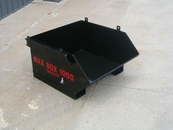 dump box, max box 1000, debris box, skip pan