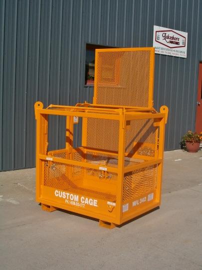 crane suspended cage / forklift platform