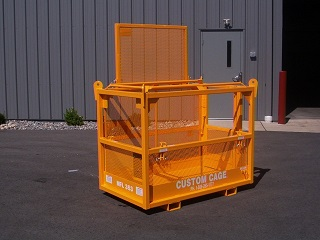 CUSTOM CAGE MANBASKET, CRANE SUSPENDED CAGE, LIFTING CAGE, PERSONNEL BASKET