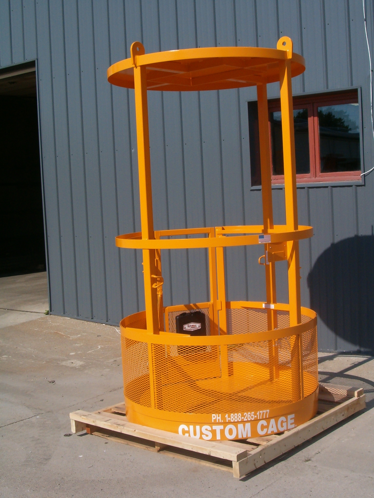 Crane Suspended Round Cages / Man Baskets Lifting Platform