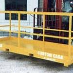 Rough Terrain Fork Truck, Forklift Work Platform, manbasket, man basket