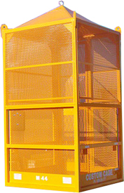 Crane suspended lifting cage for personnel / manbasket, man basket, personnel cage, underground work, mining, tunneling