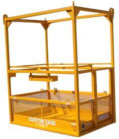 Crane suspended lifting cage, personnel cage, manbasket man basket
