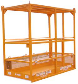 Crane suspended lifting cage, Personnel cage, manbasket, man basket