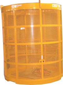 manbaskets, man baskets, personnel cages, lifting cages, material cages, material handling cage, crane suspended cages, platforms for material, debris boxes, debris cages, lift platforms, lift equipment, equipment lifts