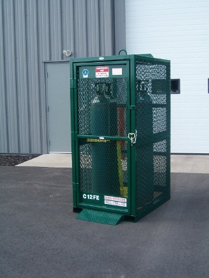 GAS CYLINDER CAGES, CYLINDER BOTTLES, CYLINDER RACKS, GAS CAGES, GAS HOLDERS