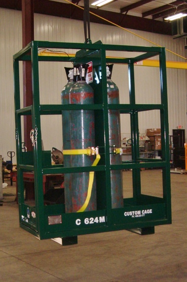 Gas cylinder cages, gas bottle lifts, cylinder racks, cyllinder storage cages, material handling cylinder cages