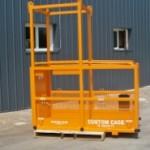 cantilever, counter lever work platform, manbasket crane suspended work cage