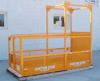 counter lever work platform, manbasket crane suspended work cage, cantilever platform
