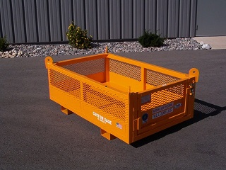 CUSTOM MATERIAL CAGE, LIFTING CAGE, MANBASKETS, FORK CAGE, CRANE SUSPENDED CAGES,