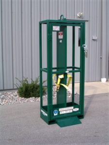 GAS CYLINDER CAGE, CYLINDER RACK, LIFTING CAGE, COMPRESSED GAS CAGE, MATERIAL LIFT, CRANE BOTTLE LIFT, OXYGEN LIFT RACK