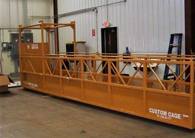 CL-617 Custom Cage Cantilever Work Platform,Lakeshore Industrial, Man Basket, Crane suspended cage, Used for working underneath Bridges, work manbasket