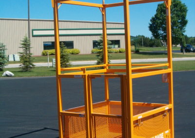 """M-44 Manbasket 48"""" x 48"""" x 86"""" 900 lbs. W.L.L. - Lakeshore Industrial - Two Rivers, Wisconsin - Custom made lift baskets / crane cages / manbaskets / man baskets."""